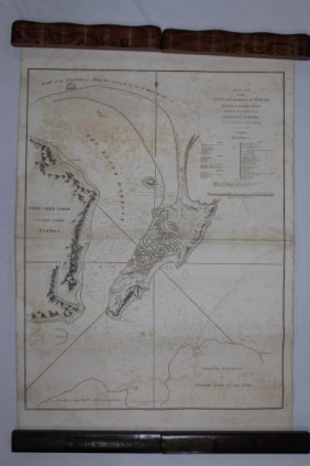 18th Century Map Of Macao, 1796,