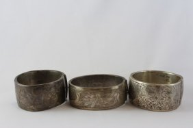 English Sterling Silver Hinged Bangle,