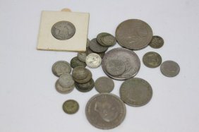22 Various Three Pence & Six Pence, Together With
