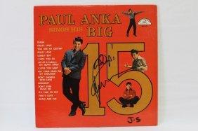 Signed Lp, Paul Anka
