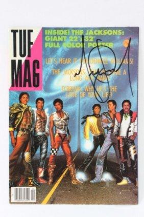 """Signed """"tuf"""" Magazine, Michael Jackson,"""