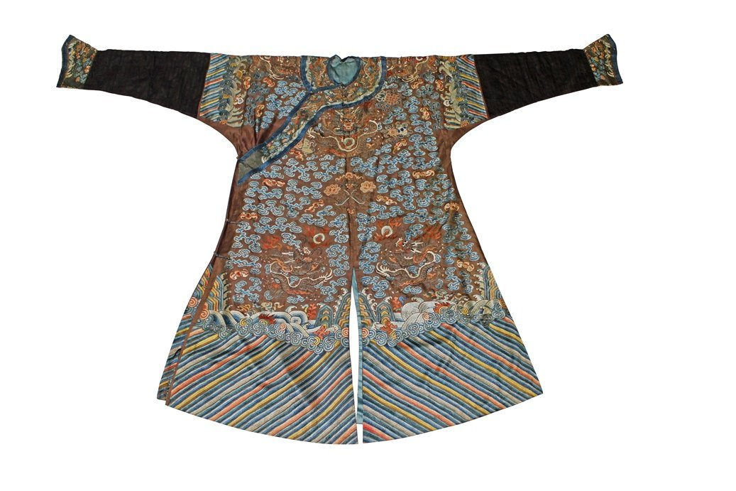 Important Chinese Imperial Clan Nine Dragon Robe,