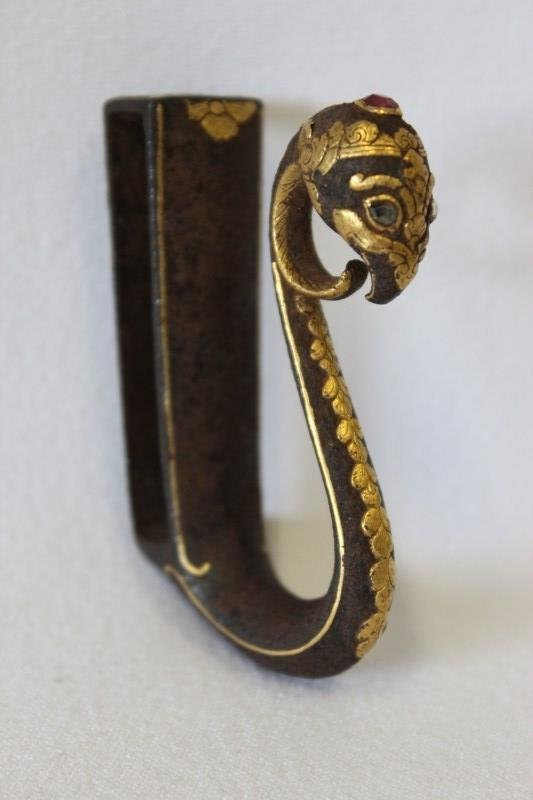 Exquisite Indo-Persian Sword Belt Hook,