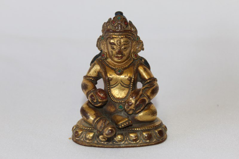 Sino-Tibetan Gilt Bronze Figure of Mahakala,