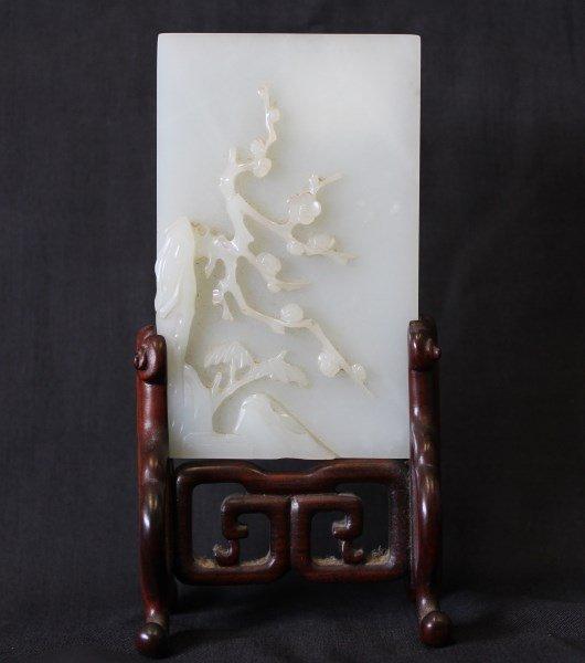 Good Chinese White Jade Plaque,