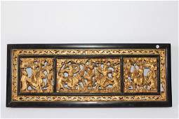 Chinese Carved Giltwood Panel,