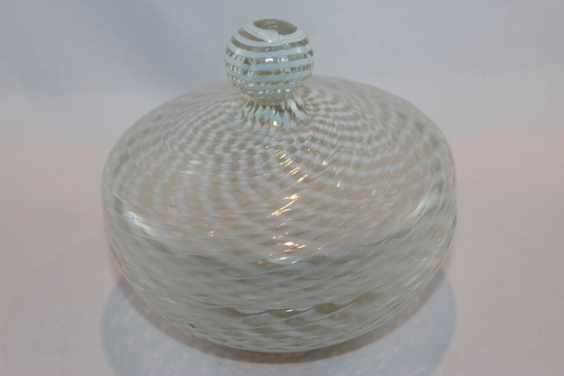 Edwardian Glass Jar and Cover,