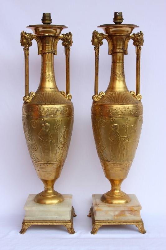 Magnificent Pair of French 19th Century Ormolou