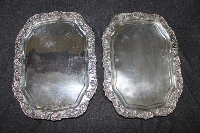 Pair of Rare American 19th Century Footed