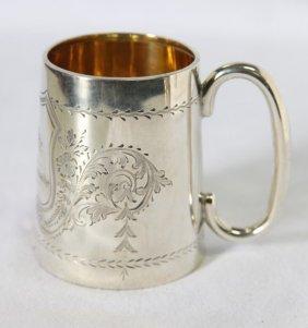 Victorian Sterling Silver Christening Mug,