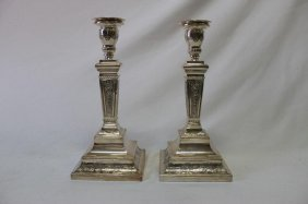 Pair Of Classical Style Sterling Silver