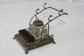 Delicate Edwardian Silver Desk Standish,
