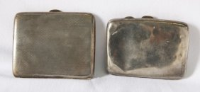 Two Sterling Silver Cigarette Cases,