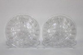 Pair Of Lalique 'gui' Plates,