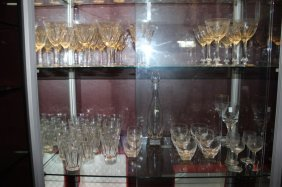 Quantity Of Assorted Moser Glass And Bohemian