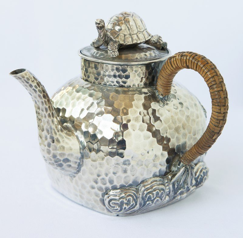 Chinese Silver Teapot,