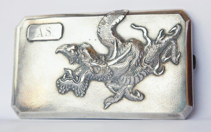 Heavy Chinese Silver Cigarette Case,