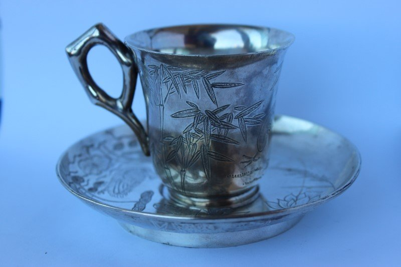 Chinese Silver Cup and Saucer,