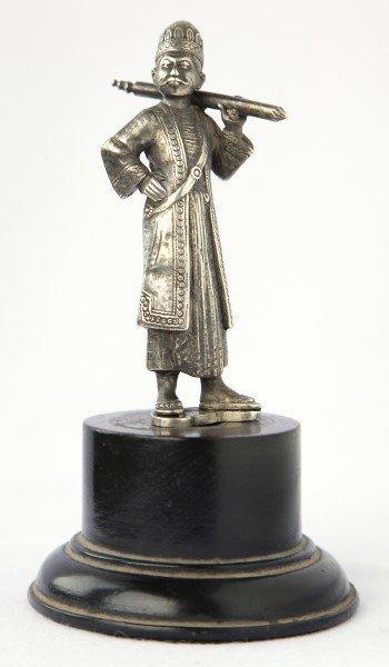 19th Century Cast Silver Figure of a Man,