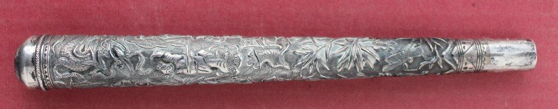 Chinese Silver Parasol Handle,