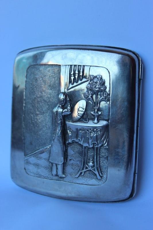 Chinese Silver Cigarette Case,