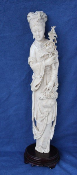 Late 19th Century Chinese Carved Ivory Figure,