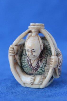 Wonderful Japanese Ivory Okimono,