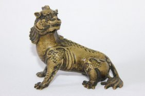 Chinese Bronze Guardian Lion,