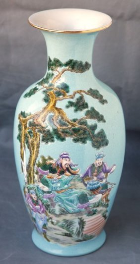 Chinese Painted Porcelain Vase,