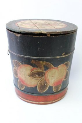 Chinese Wooden Storage Bucket And Cover,
