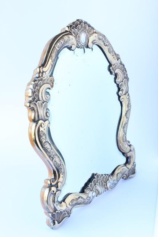 Russian Silver Gilt Mounted Table Mirror,