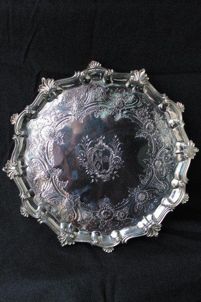 George II Sterling Silver Footed Salver,