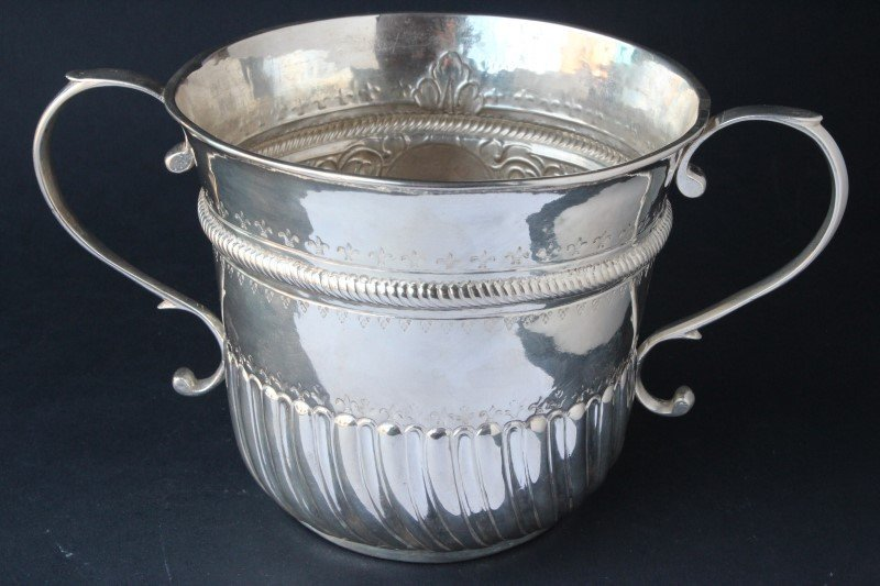 Early George II Sterling Silver Twin Handled