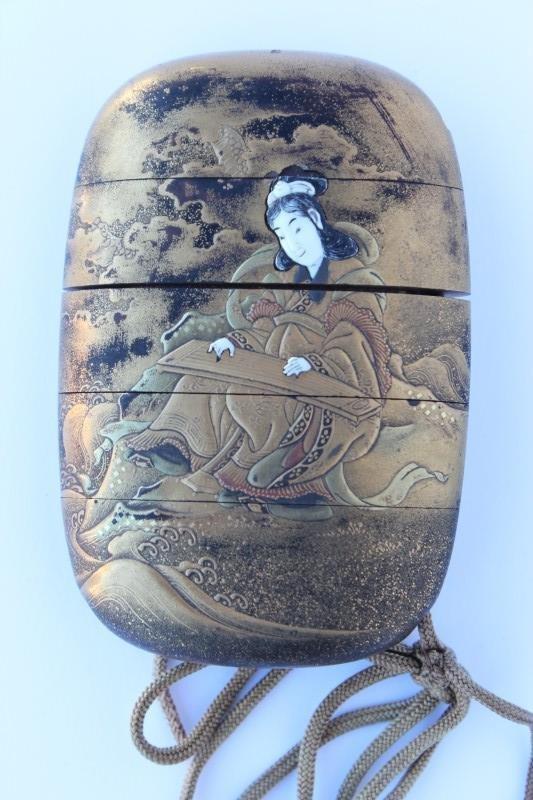 Wonderful Edo Period Gold Lacquered Inro,