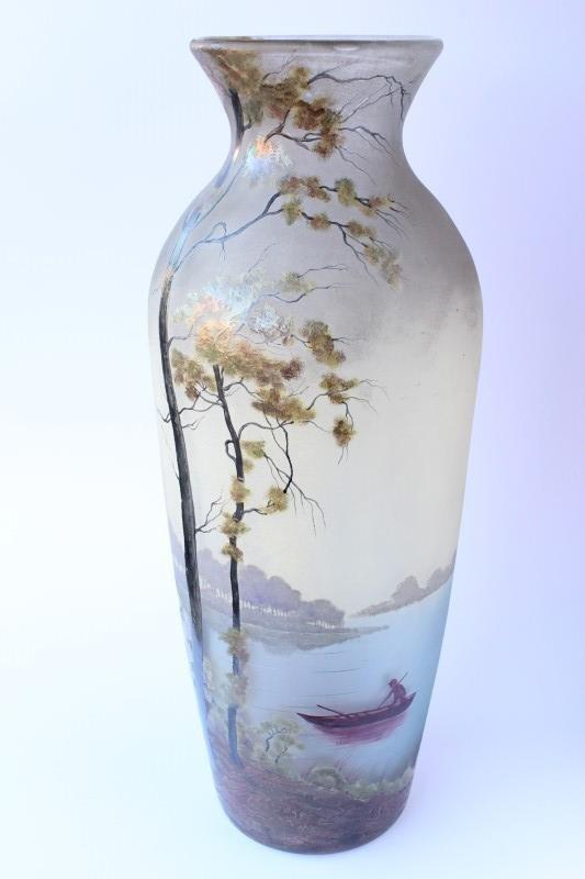 Handsome Muller Fres Glass Vase,