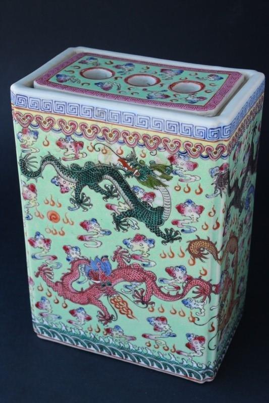 Chinese Porcelain Peony Vase,