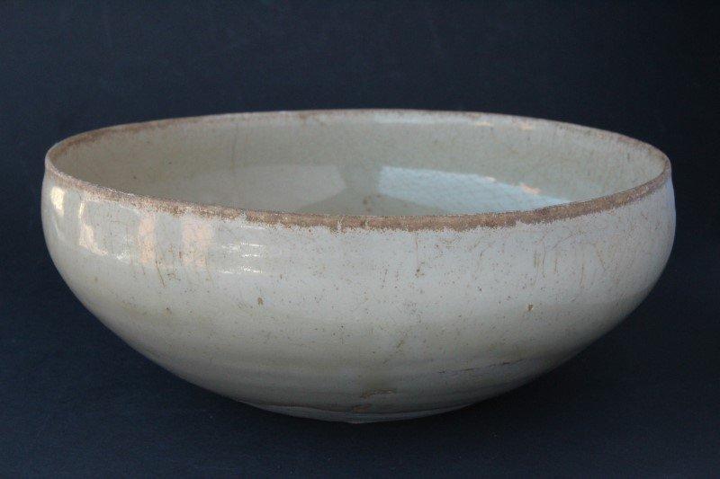 Vietnamese Ivory Glazed Alms Bowl,