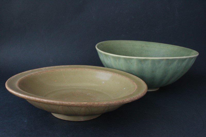 Two Sawankhalok, 18th Century Celadon Bowls,