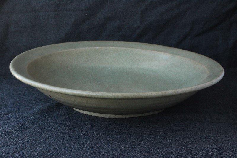 Large Chinese Celadon Dish,