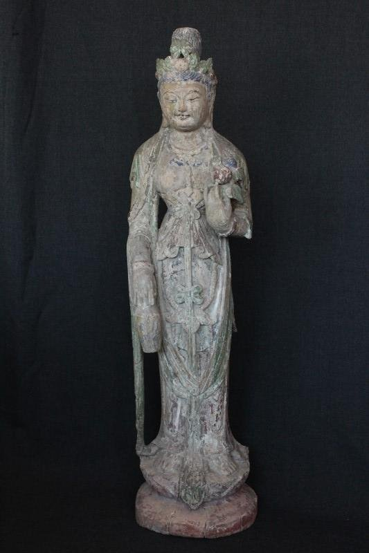 Good Chinese Late Ming/ Early Qing Dynasty Wooden