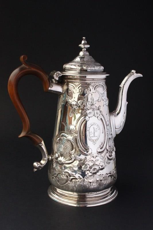 George II Sterling Silver Coffee Pot,