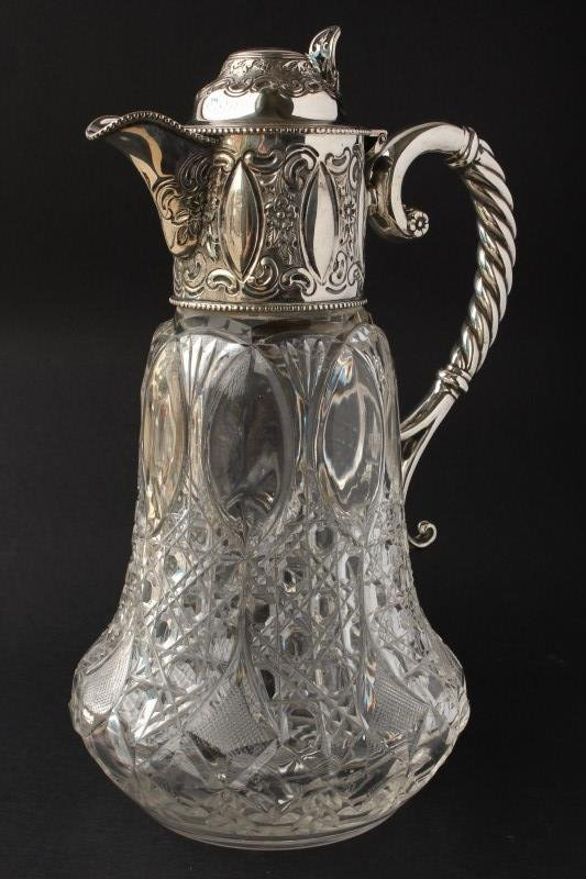 Victorian Sterling Silver Mounted Claret Jug,