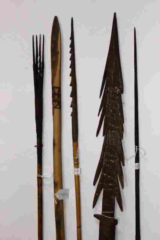 Five Various Australian Aboriginal Spears,