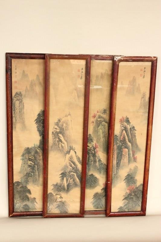 Four Chinese Panels,