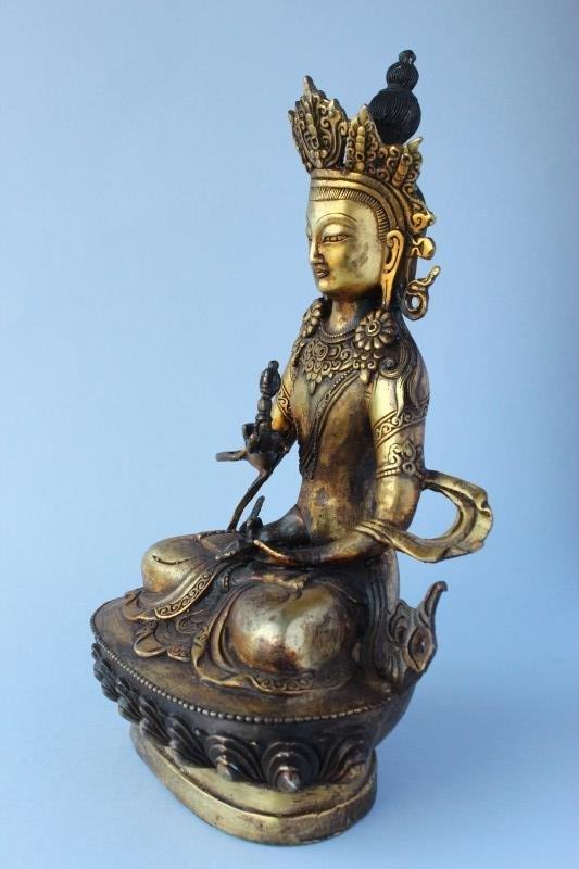 Sino Tibetan Gilt Bronze Tara, - 2