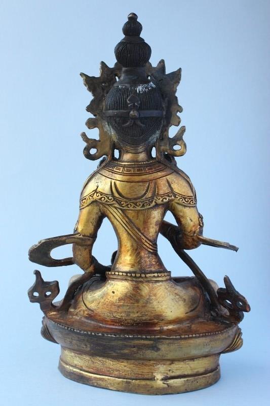 Sino Tibetan Gilt Bronze Tara, - 3