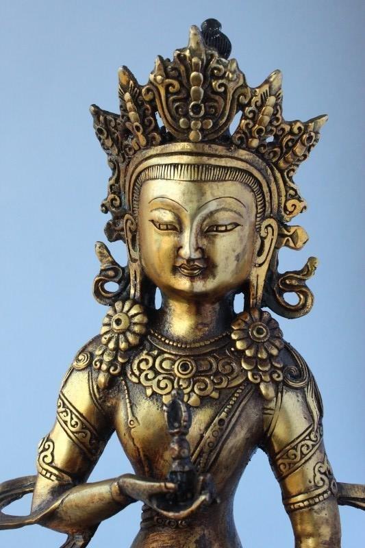 Sino Tibetan Gilt Bronze Tara, - 5