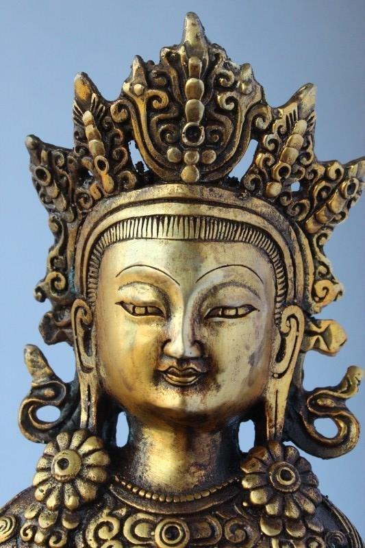 Sino Tibetan Gilt Bronze Tara, - 6