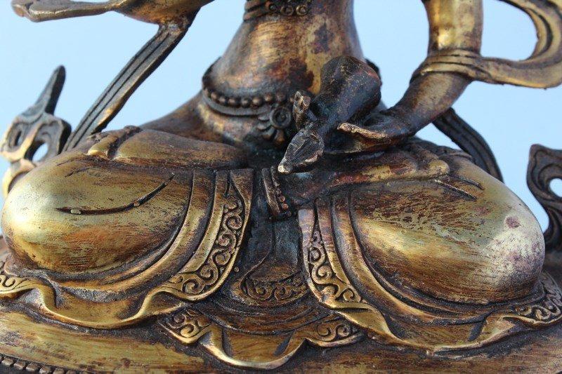 Sino Tibetan Gilt Bronze Tara, - 7