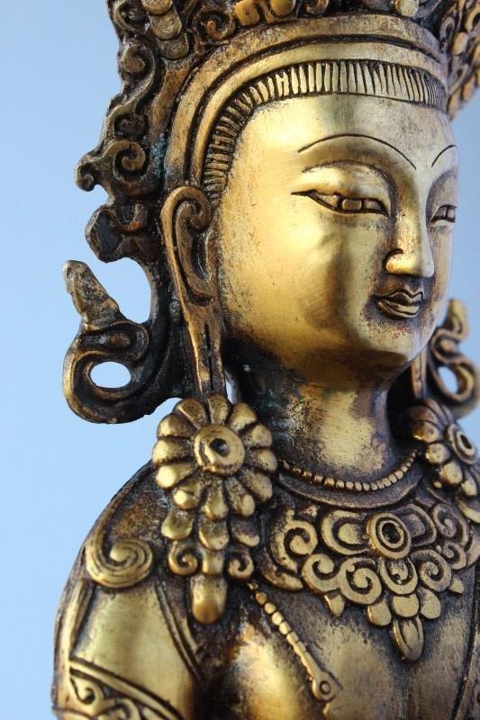 Sino Tibetan Gilt Bronze Tara, - 8